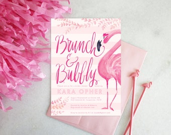PRINTABLE Bridal Shower Invitation | Brunch & Bubbly