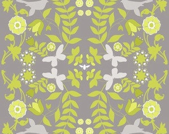 Ty Pennington for Free Spirit - IMPRESSIONS Home Dec - Foliage in Chartreuse - Gray