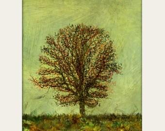 Autumn Tree Wall Art Print 8x10