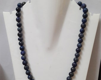 Natural Lapis Gemstone Beaded Necklace ! 322.00 Ct Natural Lapis Gemstone Necklace ! Handmade jewelry ! Perfect Gift !