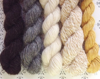 """The Prince with no shadow - """"Once upon a time"""" collection of handspun yarns"""