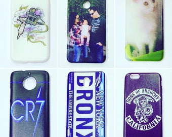 Personalized silicone case for mobile with photo to choose, logo or design. Covers available for almost all mobiles on the market