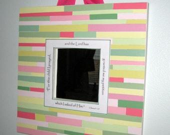 Beadboard Nursery Mirror - 10x10 Pink, Green, Yellow - Baby Girl