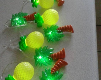Led string lights#palm trees and pineapples #battery operated #fairy lights, #pineapple fairy lights, party decoration#novelty indoor lights