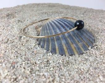 Gold Filled Freshwater Pearl Bangle Bracelet