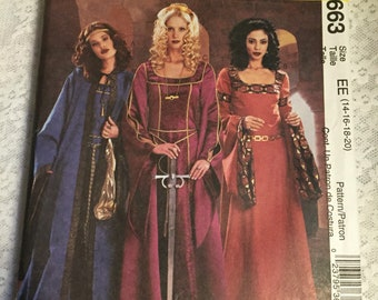 Simplicity 3663-RenFaire, Medieval Gown and Cape