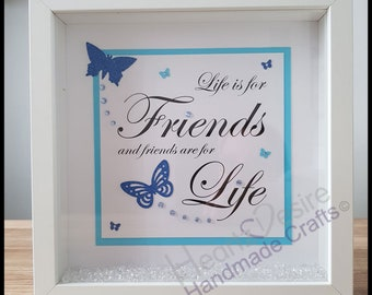 Personalised Friends Box Frame / Perfect gift for Birthday / Christmas / Keepsake
