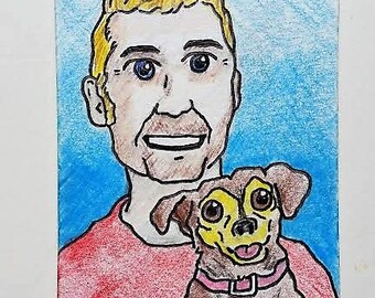 """The Artist and the CEO #241 (artist trading cards) 2.5"""" x 3.5"""" by Mike Kraus"""