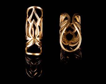 Lotus dread bead, sacred geometry dread ring, hair jewelry, dread lock, brass dread rings, gold boho hair jewelry, lotus flower design DB17