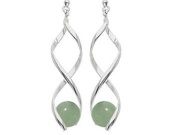 Swirl silver plated - new jade earrings