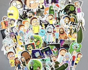 Rick and Morty Adult Swim Sticker Bomb Stickers Decals - PICKLE RICK!!! Ships from USA!
