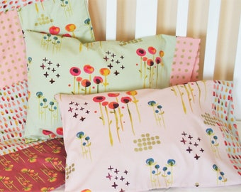 Gifts for Her, Toddler Gift, Organic Toddler Pillowcase, Organic Travel Pillowcase, Kids, Girl, Organic Toddler Bedding, Floral, Pillow Case