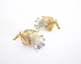 Vintage Destash Earrings Crown Trifari