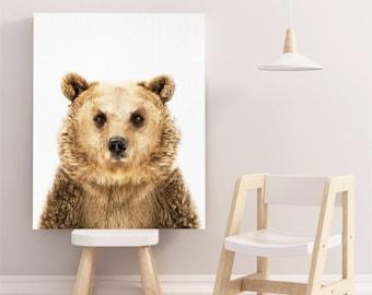Bear Print, Bear Wall Art, Bear Poster Kids Room, Bear Printable Download, Bear Photography, Bear Poster, Bear Art, Nursery Bear Printable