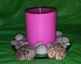 """Beautiful 3""""  diameter x 3"""" Tall Pillar Candle"""