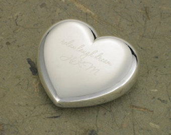 Personalized Paperweight - Monogrammed Heart Paperweight - Mother's Day Gifts - Gifts for Mom - Gifts for Her - GC634