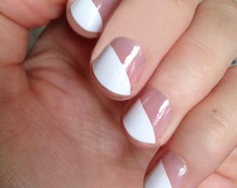 White Modern French Nail Wraps