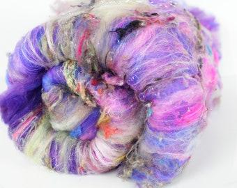 Punk Rock 3.4 oz  Wool - Merino // Art Batt // Wool Art Batt for spinning or wet felting