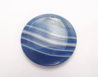 FUSE 122 tinted agate disk pendant