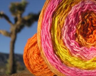 Sport Weight Yarn - Custom Dyed Shawl Yarn -Desert Sunset