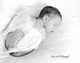 Spring SALE! Baby Newborn Infant Angel Wings Soft, Beautiful, Natural Wings for Professional Cupid Photo Costume Angel