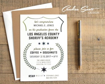 Police academy graduation invitation diy printable file la county sheriff graduation invitation do it yourself printable file filmwisefo