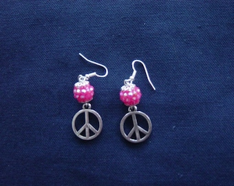 Peace and Love Disco earrings