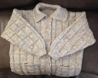 Hand Knit Over-sized Large Women's Sweater or Coat