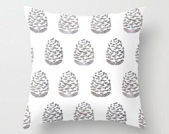 Pinecones Pillow  / Fall Decor  / Woodland Pillow  / Pine cone Pillow  / Modern Home Decor /  By Aldari Home