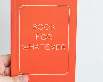Pocket Sized Journal Booklet - Orange Statement Notebook