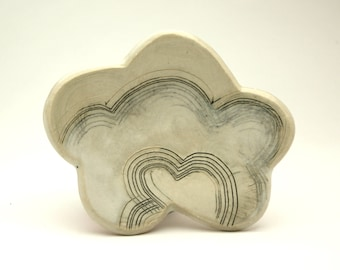 Rain Cloud- little oval dish- Ruchika Madan