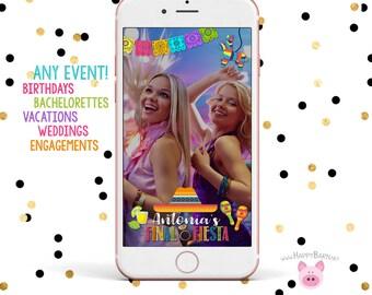Snapchat GeoFilter, Bachelorette Party Geofilter, Final Fiesta Snapchat Filter, Lime, Maracas, Fiesta Geofilter, Final Fiesta, Tequila Shots