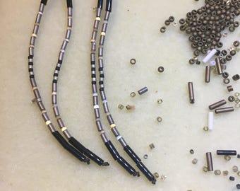Elevens - Long Seed Bead Earrings