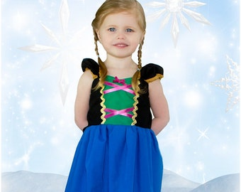 Anna dress, princess dress, Frozen dress, birthday party dress, vacation princess dresses, comfortable princess dresses, handmade