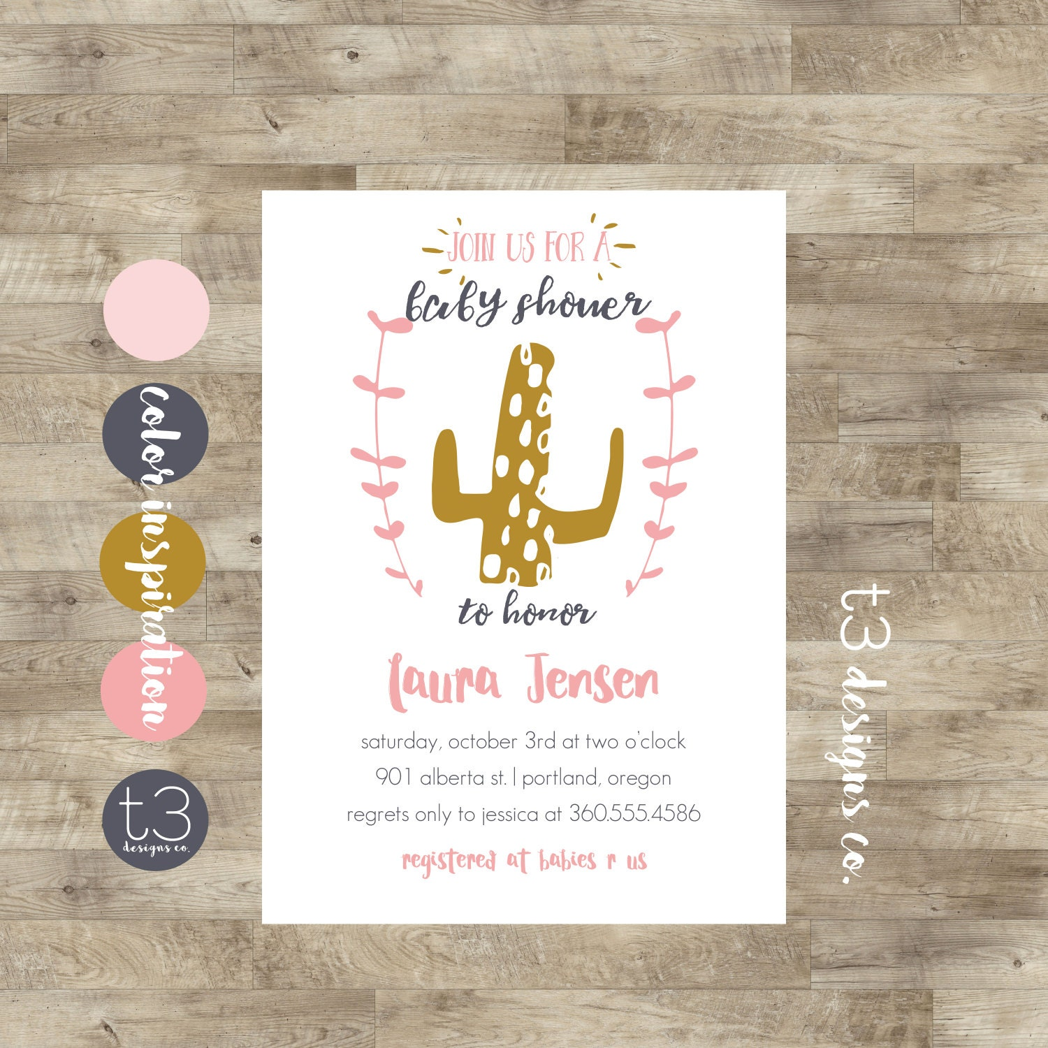 Cactus Baby Shower Invitation, cactus country baby shower, baby boy ...