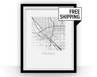 Fresno Map Print