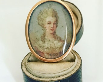 SOLD  19th Century French Portrait Ring