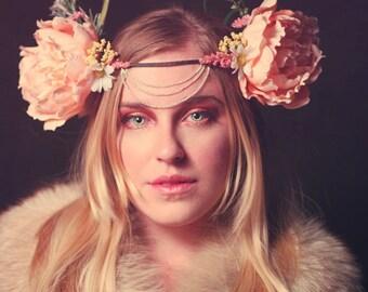 Mucha Inspired Flower Crown