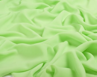 0112 Light Green Chiffon Fabric, Soft Chiffon fabric, Fabric by the meter,bridal dress, bridesmaid skirt, chiffon fabric dress - 1 meter