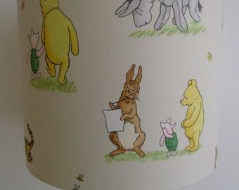Winnie the pooh lamp etsy disney winnie the pooh and friends in vintage handmade nursery lampshade 30cm drum aloadofball Gallery