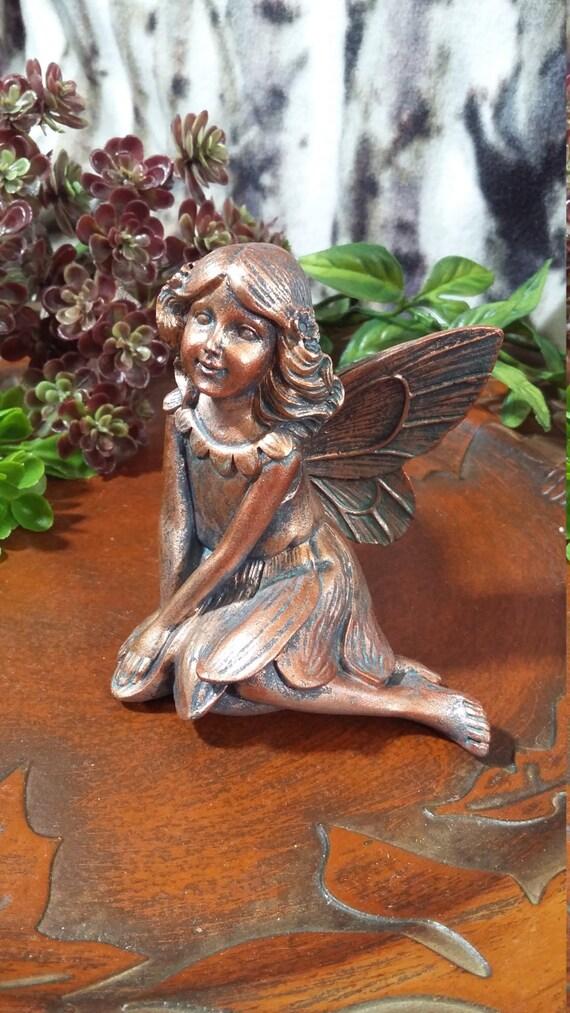 Fairy Garden Miniature Fairy Sitting, Copper Fairy, Fairy Statue, Garden  Fairy, Bronze Fairy Statue From BarbarasBoutiqueShop On Etsy Studio