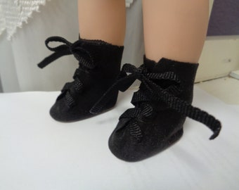 Soft Black Suede Boots for Dolls- Fits  Wellie Wisher Dolls Only