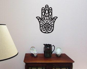 Hamsa Hand WALL ART Vinyl Decal Hand of Fatima New Age Spiritual Decal
