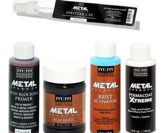 Modern Masters Metal Effects Iron Paint and Rust Activator Kit 4 Oz