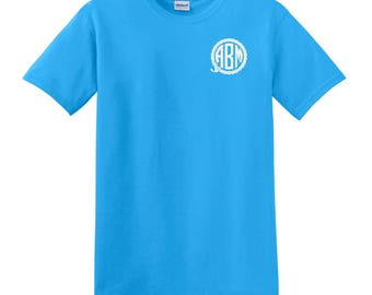 Anchor Rope Monogrammed T-Shirt monogram shirt gift for birthday, bridesmaid, or other special occasion