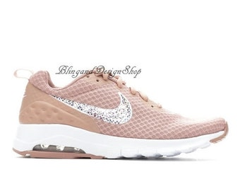 Swarovski Bling Nike Air Max Motion LW Women's Nike shoes Customized with Swarovski Crystal Rhinestones, Bridal Shoes