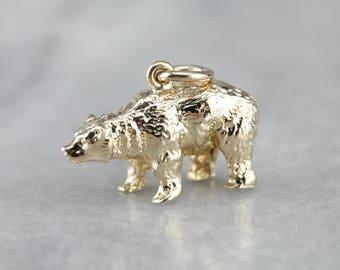 Animal pendant etsy gold bear pendant polar bear animal pendant vintage charm charm necklace ta8x8y d aloadofball Image collections
