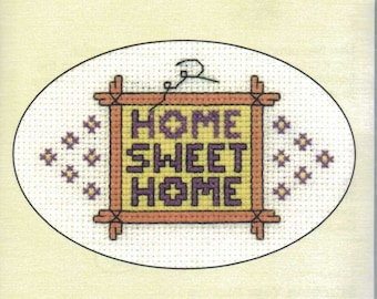 Home Sweet Home Cross Stitch Card Kit from Heritage Craft on 14 ct Aida, new home, Counted Cross Stitch, card kit, greeting card kit