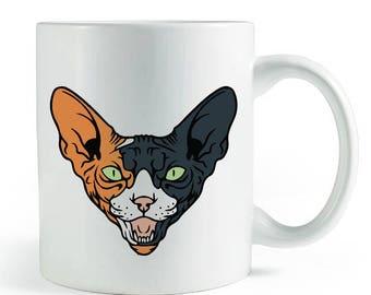 Calico Sphynx Mug