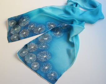 Starburst Amacrine Cell Scarf in Silk Chiffon - Neuron Scarf - Retinal Cells